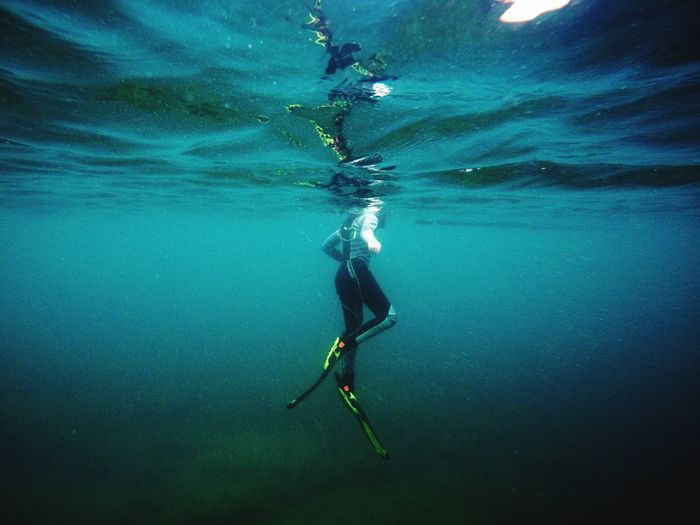 Scuba Diving Underwater Adventure Sea UnderSea Swimming One Person Water Nature Outdoors Day