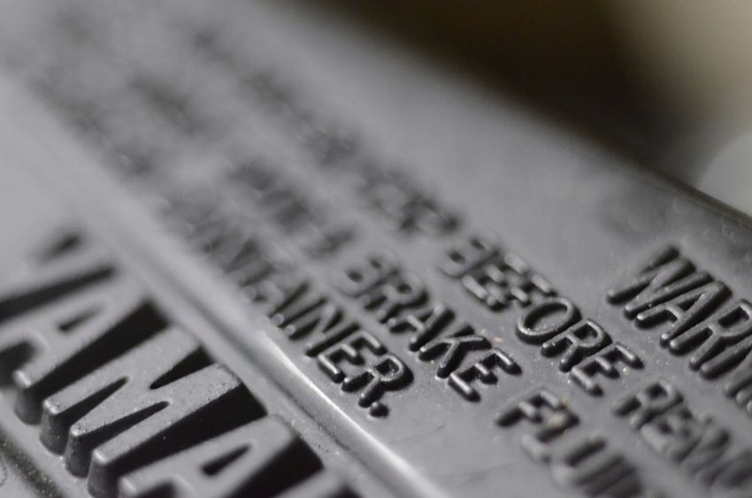 Brake Yamaha Indoors  Text Selective Focus Close-up No People Paper Day