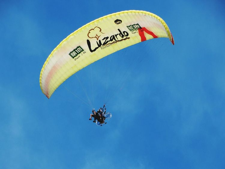 Blue Communication Parachute Flying Sky People Outdoors Day RISK Rio Grande Do Sul, Brazil