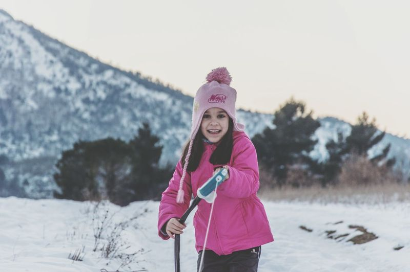 Winter Snow Warm Clothing Cold Temperature One Woman Only One Person Young Adult Only Women Glove Sweater Adult Knit Hat Adults Only Pink Color Scarf Looking At Camera One Young Woman Only Nature Outdoors People Snow ❄ Tranquility EyeEm Best Shots EyeEm Gallery EyeEm Best Shots - Nature