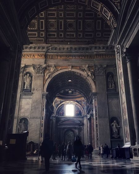 Religion Pope Ray Of Light Sunlight Rome Arch Indoors  Architecture History Place Of Worship Real People Travel Destinations Built Structure People Day
