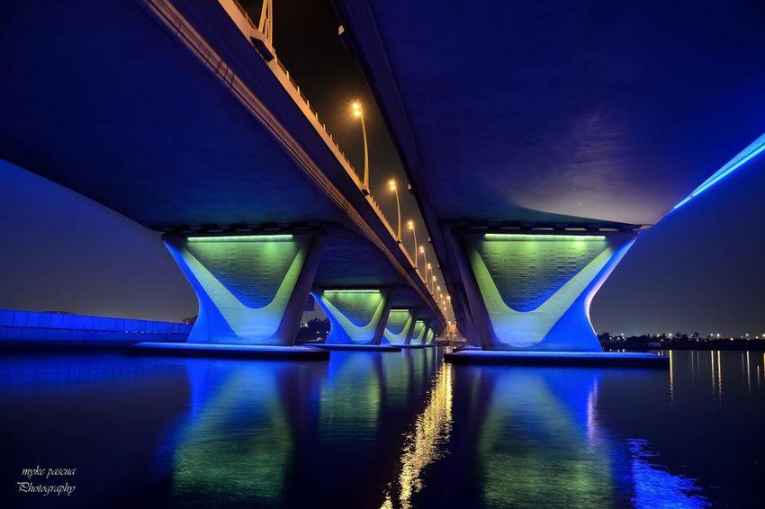 Bridge Water Illuminated Bridge Architecture Night Connection Reflection Bridge - Man Made Structure Outdoors River The Architect - 2018 EyeEm Awards