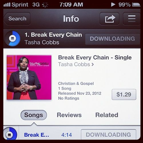 Bought it this morning. Breakeverychain @tashacobbs Church Anointed Power