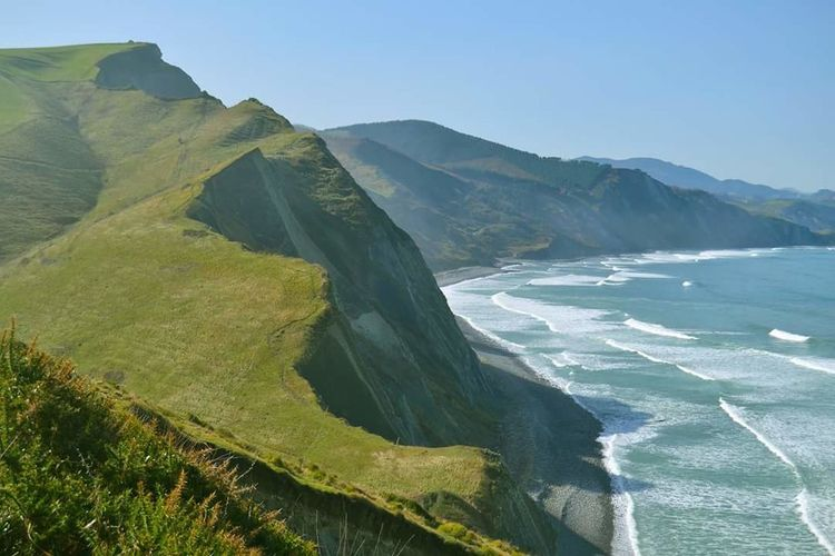 Zumaia Flysh Costa Vasca Monte Pais Vasco Euskal Herria Naturaleza Mountain Basque Country Verde Mar Water