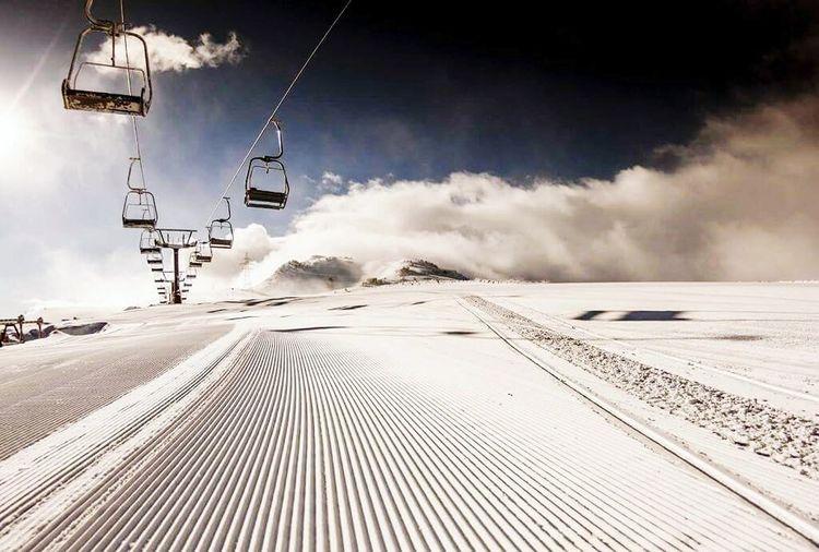 Winter Sky Snowboarding Ganasdenieve Cold Ski