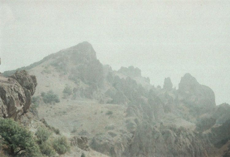 35mm Beauty In Nature Crimea EyeEm Nature Lover Film Fog Foggy Geology Hill Idyllic Landscape Mountain Nature Outdoors Pivotal Ideas Sky Traveling Unusual Weather Wildness Zenit