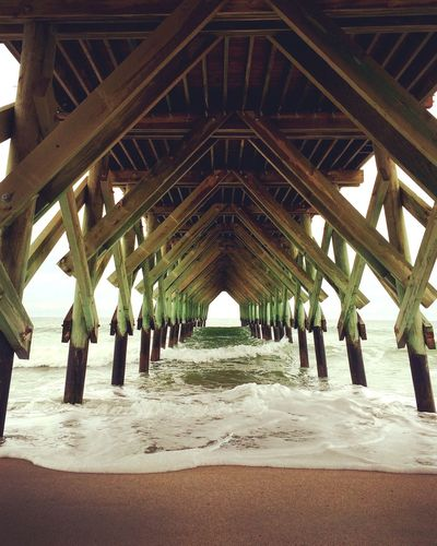 Crystalpier Wrightsville Beach North Carolina NC Pier Ocean Nature Waves Symmetry