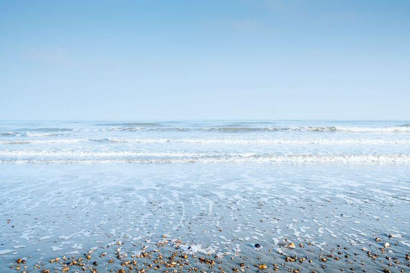 Calm Blue Seas & Shore Coastal Landscape Coastal Coast Seascape Sky Sea Water Horizon Over Water Scenics - Nature Horizon Copy Space Clear Sky Beauty In Nature Beach Tranquil Scene Tranquility Nature Day No People Idyllic Blue Outdoors