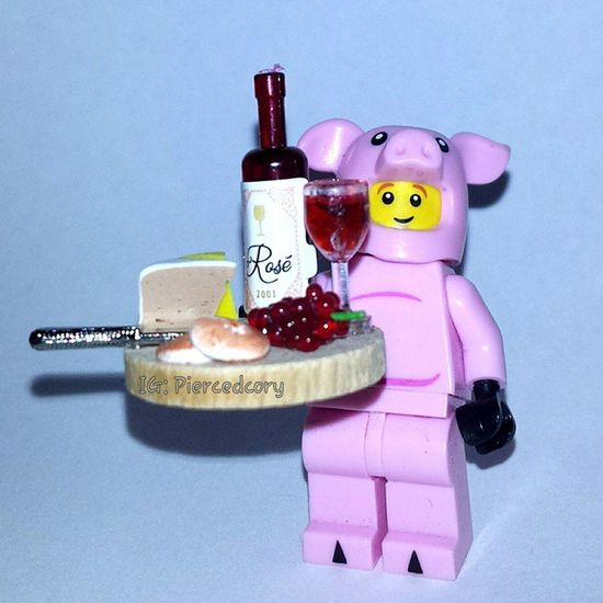 """Would you like some wine and cheese with your swine? I'm delicious and they compliment me perfectly. * A nod to """"the restaurant at the end the galaxy"""" from """"the hitchhiker's guide to the galaxy""""* Douglasadams Dontpanic 42  TheHitchhikersGuideToTheGalaxy"""