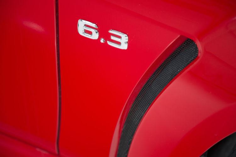 Full frame shot of red car