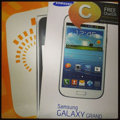 A grandeur Sun can give me. Can't say no to retire my Samsung Omnia Pro after more than 3 years of service Samsunggalaxygrand Themanansala Samsung Technosavvy hashtag igers igermanila