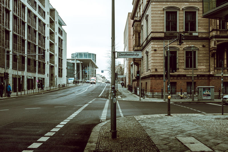 Mitte Architecture Berlin Photography Berliner Ansichten Bicycle Building Exterior Buildings Built Structure Capture Berlin City City City Life City Street City Street City View  Cityscape Day Daylight No People Outdoors Point Of View Road Sky Street Street Photography Streetphotography