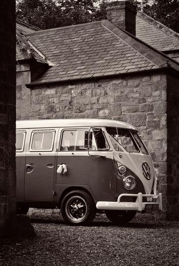 Monochrome VW Wedding Wedding Photography Bus Blackandwhite Black And White Volkswagen Volkswagenbus VW Campervan Vw Camper Van