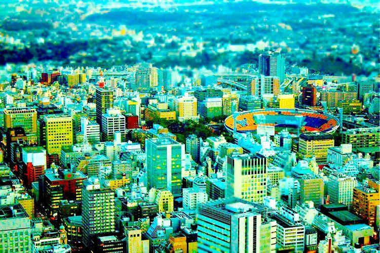 関内〜石川町〜山手。生まれ育った街を、ちょっとオモチャ風に?☺️ Taking Photos Enjoying Life Yokohama-shi Photography Japan 横浜 横浜スタジアム