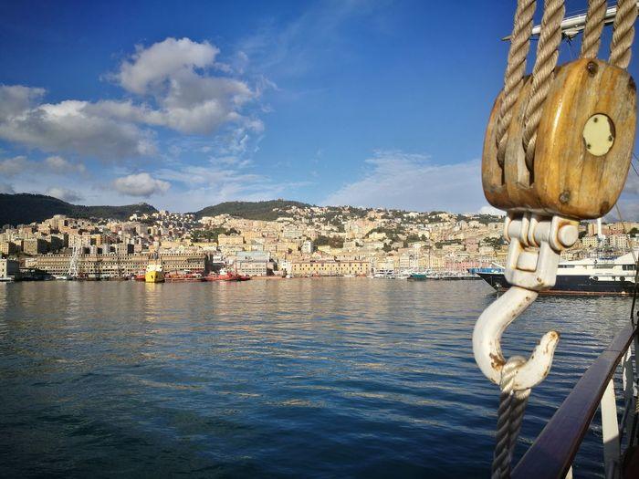 Nave Italia Genova Porto Antico Genova Water Sea Nautical Vessel Beach Harbor Sailing Ship Buoy Bird Sky Architecture