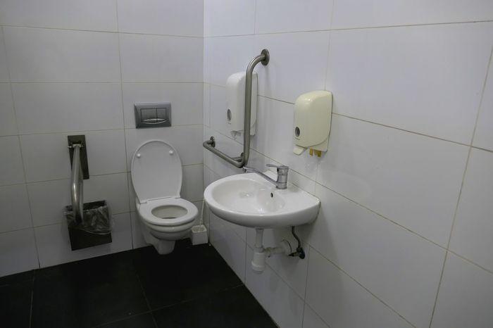 Bathroom Flooring Domestic Room Hygiene Indoors  Toilet Domestic Bathroom Toilet Bowl No People Public Building Wall - Building Feature Convenience Public Restroom
