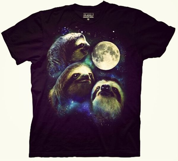 HAHAHAHAHA OMFG I want this t-shirt XD Fashion Funny Sloth