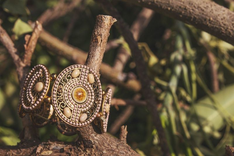 Decoration in the nature Hand Making Art is Everywhere Decorative Art Hand Chain Decorations E ye E m N e w H er e Close-up Focus On Foreground No People Plant Nature Day Tree