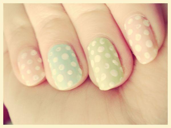 Nails Nailart  My Nails  Easter Light Colors