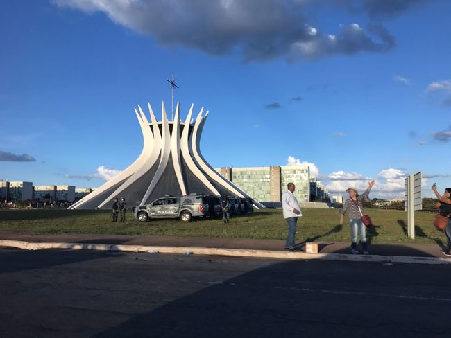 Brasília's cathedral Sky Built Structure Architecture Cloud - Sky Nature City This Is Latin America Tourism Sunlight