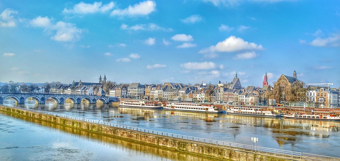 Sky Water River View Sun City View  No People Architecture Travel Destinations Beautiful Destinations Netherlands ❤ Maastricht Europe Travel Europe First Eyeem Photo