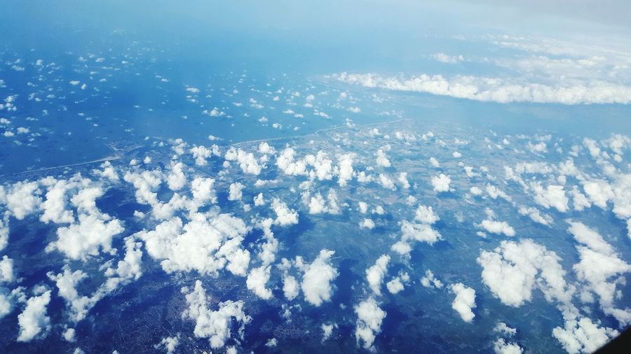 A Bird's Eye View First Eyeem Photo Clouds Looking Like Cotton Field Flying High