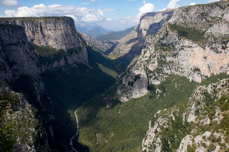 Vikos valley in Greece Beauty In Nature Cloud - Sky Day Deep Landscape Mountain Mountain Range Nature No People Outdoors Scenics Sky Tranquility Valley