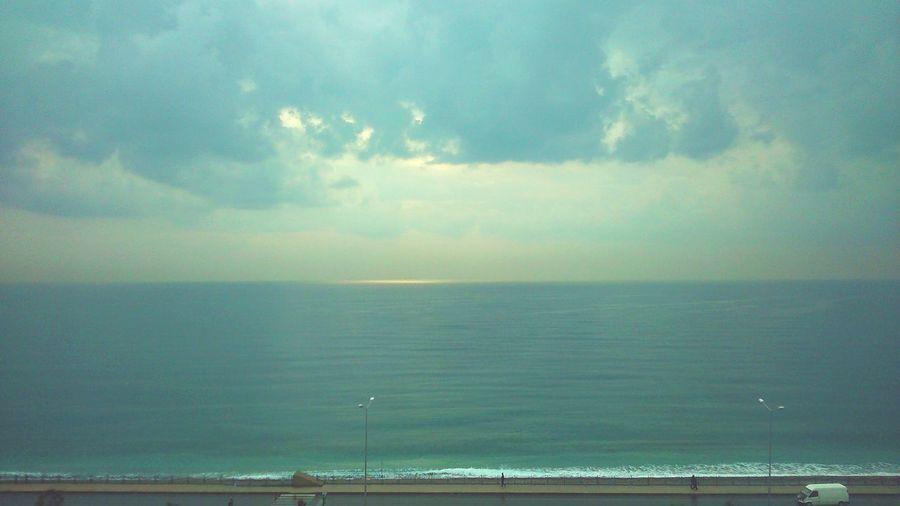 Sea Seaside Sea View Rainy Day