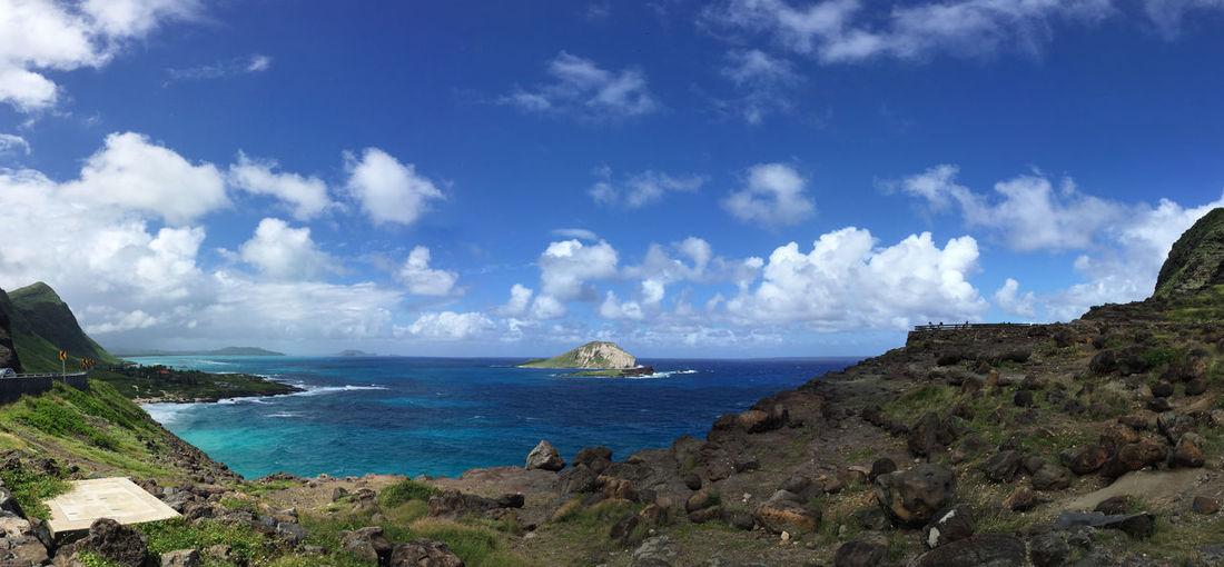 Pacific Ocean Against Blue Sky
