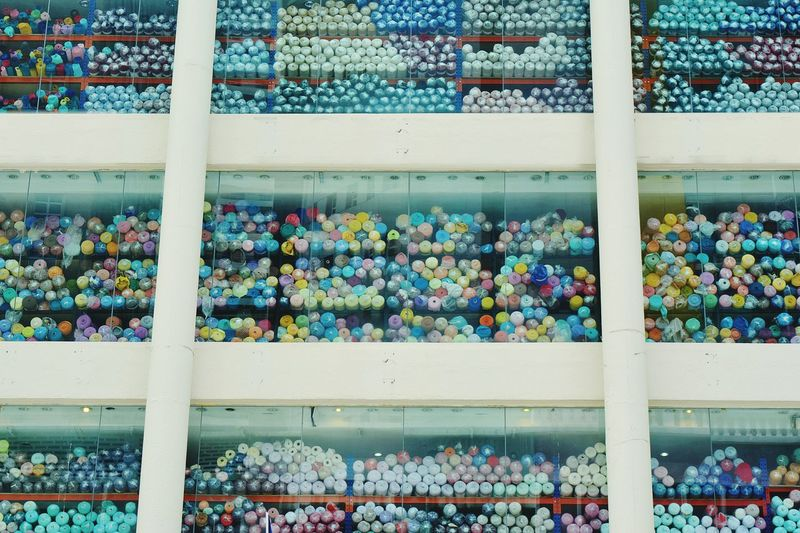 Architecture Fabric Cloth Kain Multi Colored Window Inside The Mall The Architect - 2018 EyeEm Awards