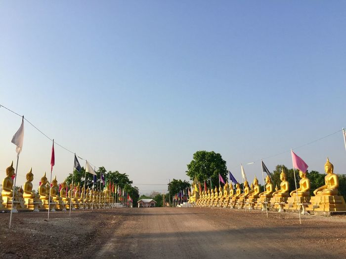 budda Flag Day Clear Sky Outdoors Tree Sky Thailand