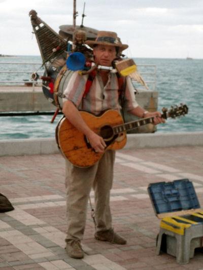 Street Performer n Key West Duval Street Guitar Key West Mallory Square Multi-instrumentalist Music Musician Street Performer
