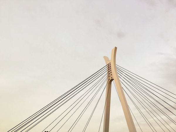 Bridge Sky Low Angle View Architecture Tall - High Built Structure Cloud - Sky Building Exterior