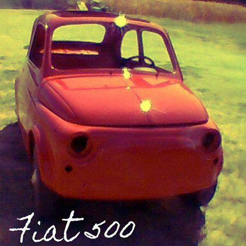 Red Fiat 500 Ravarino modena italy italia