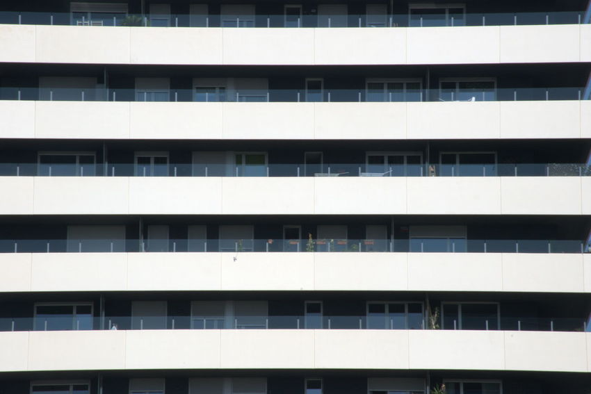 Balconies in an office building Architecture Building Building Exterior Built Structure City Full Frame Glass - Material Modern No People Pattern Repetition Side By Side Window