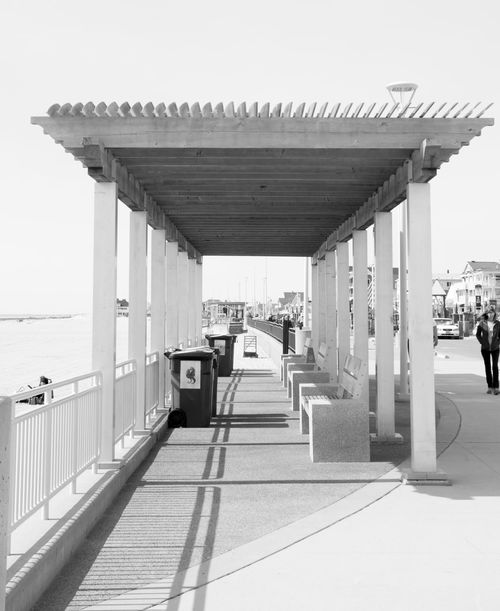 Architecture B&w Street Photography B&W Street Photography Balck&white Beach Building Exterior Built Structure City Life Column Composition Day Hampton Beach Hamptons In A Row June Narrow Perspective Sand Summer Summertime The Hamptons The Way Forward Warm Warmth