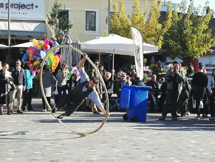 Monastiraki Square, Athens Performing Arts Event Acrobatics  Acrobatic Stunts Athens City Athens Street Photography People Photography Built Structure People