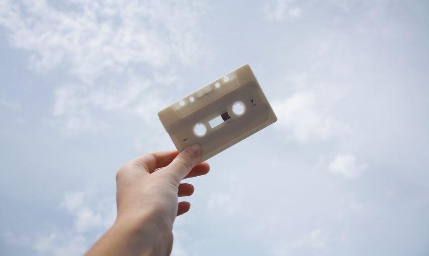 1st mixtape 🎧. TakeoverMusic Sky Skyporn Clouds Cassette Mixtape Memories 90's  Human Hand Outdoors Simplicity Minimalism Minimalobsession Close-up Taking Photos Shootermag EyeEm Best Shots