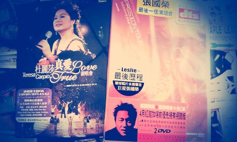 在香港买了杜丽莎和张国荣的演唱会。。。