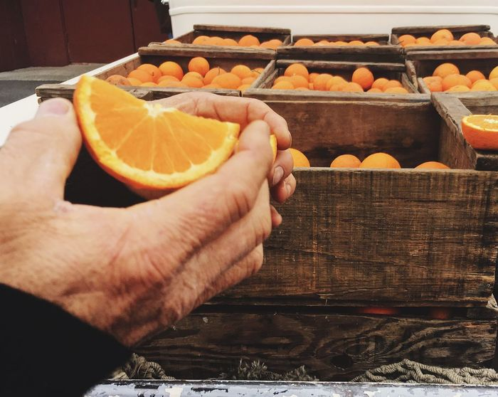Oranges Human Hand Healthy Eating Food Freshness Food And Drink Fruit Human Body Part SLICE Citrus Fruit Close-up Ready-to-eat Holding