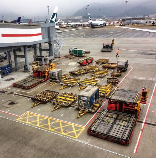 The work gets done Work Environment Airport Workplace Work High Angle View Transportation Outdoors No People Airport Runway Modern Workplace Culture Modern Workplace Culture
