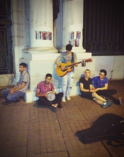 Youth Of Today Street Musicians Taksim Istanbul Turkey Summer