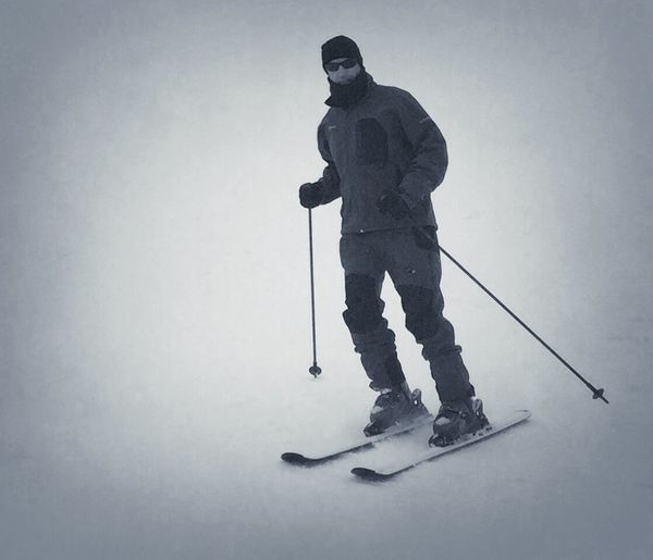 Shades Of Grey Skiing New Zealand Blackandwhite People Photography