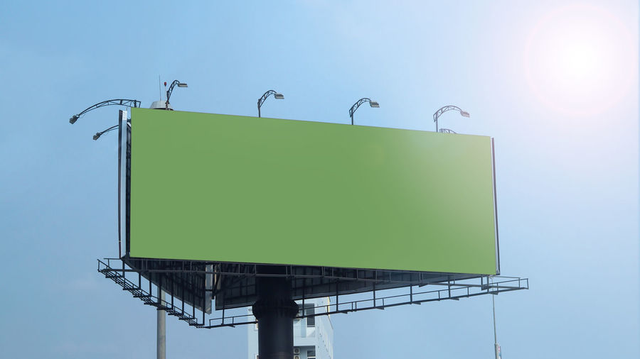 Blank billboard large size for outdoor or out of home advertising with blue sky. Animal Animal Themes Animal Wildlife Animals In The Wild Architecture Billboard Billboard; Blank; Outdoor; Background; Mockup; Advertising; Advertisement; Sky; Poster; Blue; Business; Banner; Space; Media; Communication; Commercial; Marketing; White; City; Large; Message; Promotion; Mock; Up; Sign; Board; Empty; Frame; Outside; Displ Bird Blank Clear Sky Communication Copy Space Day Green Color Group Of Animals Low Angle View Nature No People Outdoors Sky Sunlight Vertebrate
