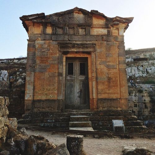 Old temple in the ancient greek city Cyrene. Capturing History Ancient Greek Libya Traveling