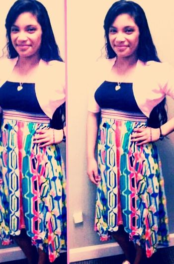 The Other Day! #dress #long #colorful #happiness #smiles
