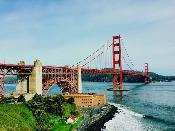 CULT! Architecture Travel City Bridge Outdoors San Francisco America USA Cult EyEmNewHere Aerial Top High Tall Red Red Bridge Famous Places Famous Travel Destinations Day Far American American Dream First Eyeem Photo Miles Away Live For The Story The Great Outdoors