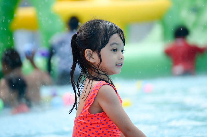 Child Females Girls Lifestyles Pool Real People Sweemingpool Water