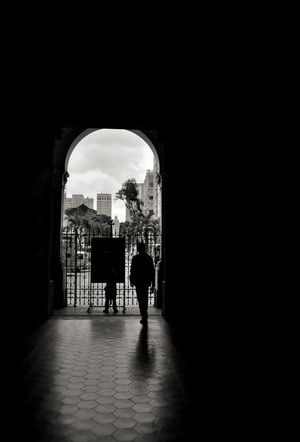 EyeEmNewHere Arch Indoors  Travel Destinations Day Adult Leaving People Silhouette Architecture Built Structure Sunlight B&w Street Photography B&w An Eye For Travel