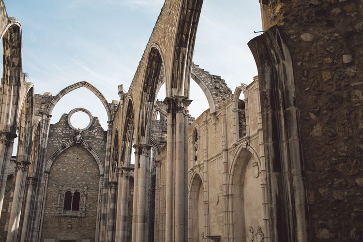 Lisbon Lisboa Lisboa Portugal Lisbon - Portugal Portugal Church Ruin Ruins Architecture Arch Arches Arched Columns History Historical Building Built Structure Building